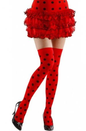Ladybird Thigh Highs - Plus Size